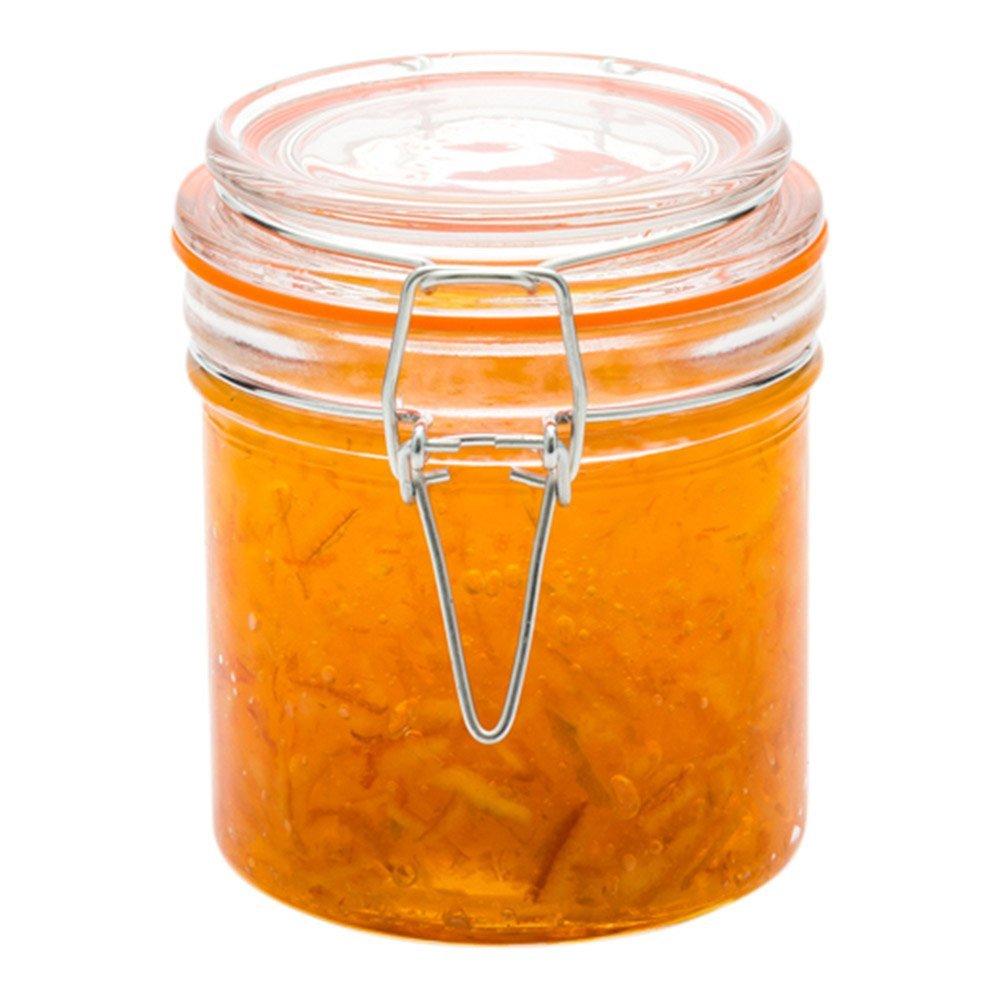 Clamp Lid Mason Jar - Mason Jars with Trigger Lid - Store liquids or dry goods, Serve Desserts, Drinks or Appetizers - 8.5 oz - 10ct Box - Restaurantware