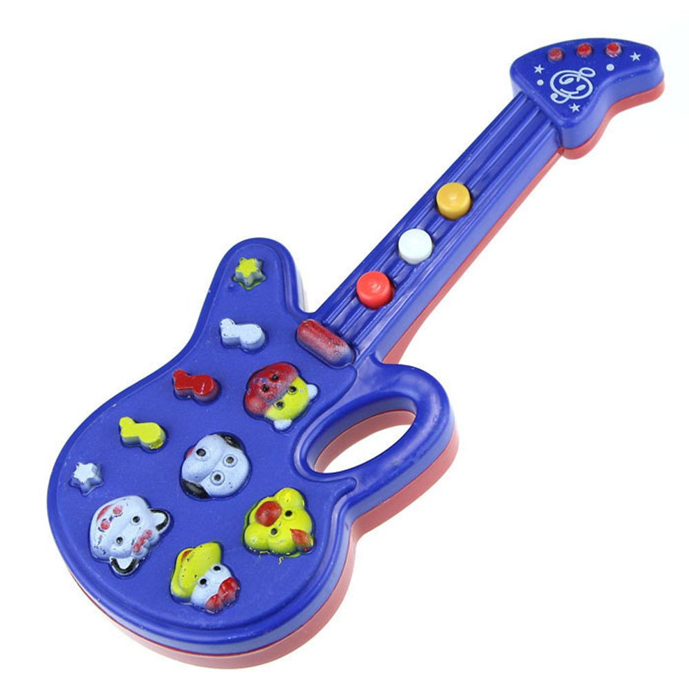 Wenini Electronic Guitar Toy - Music and Sound Guitar Toy Nursery Rhyme Music Children Baby Kids Gift (Multicolor) by Wenini (Image #3)
