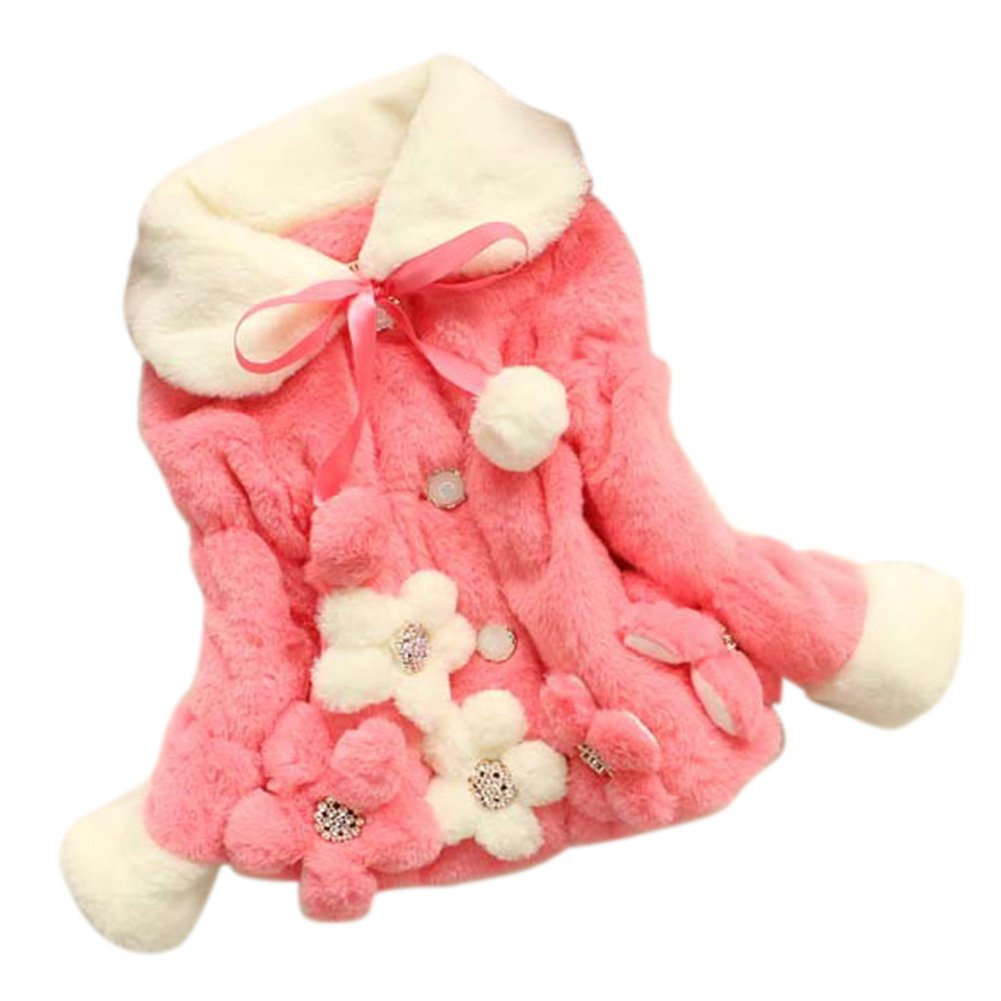 Baby Girls Infant Toddler Winter Flowers Outerwear Coats Snowsuit Jackets