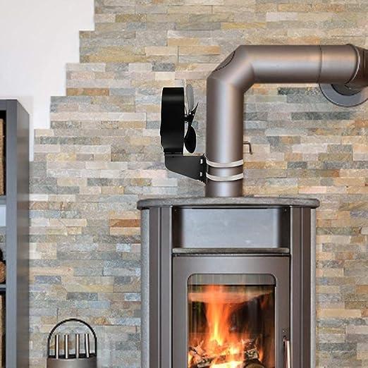 quemador de registro dise/ño de motor de protecci/ón Ventilador de estufa de 8 aspas alimentado por calor para estufa de chimenea dise/ño de motor de protecci/ón
