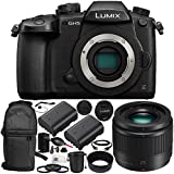 Panasonic Lumix DC-GH5 Mirrorless Digital Camera & LUMIX G 25mm f/1.7 Lens 15PC Bundle. Includes Manufacturer Accessories + 2 Replacement BLF19 Batteries + MORE - International Version (No Warranty)
