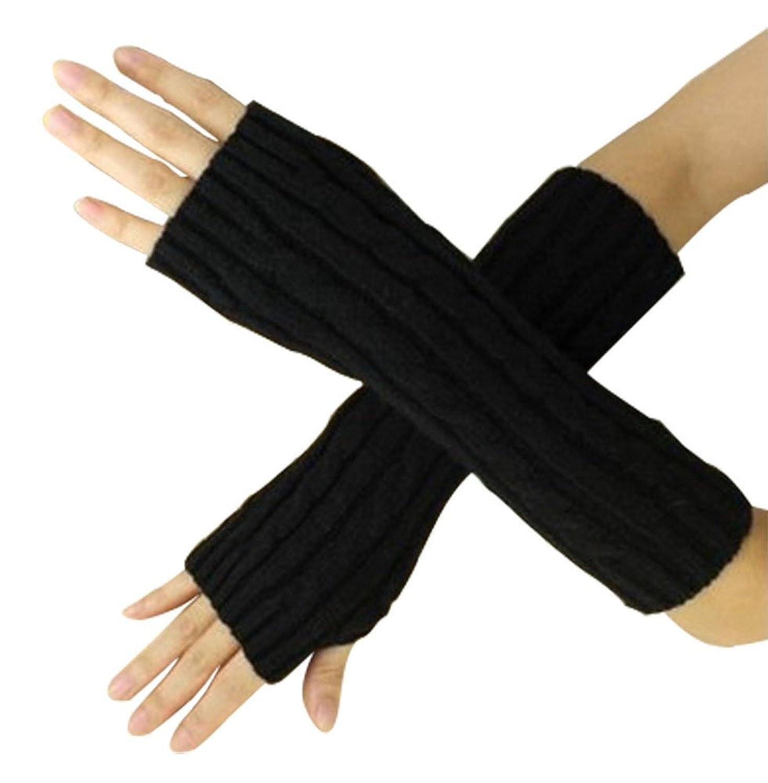 Bluelans/® Strickwolle Armstulpen Pulsw/ärmer Handschuhe fingerlos Stulpen Damenhandschuhe Winterhandschuhe