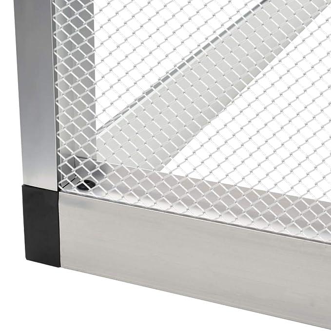 vidaXL Pajarera de Exterior de Aluminio 183x178x194 cm Jaula ...