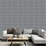 3D Wall Murals Wallpaper Bathroom Vinyl Adhesive Foam Brick Tile Silver Grey 8Pack