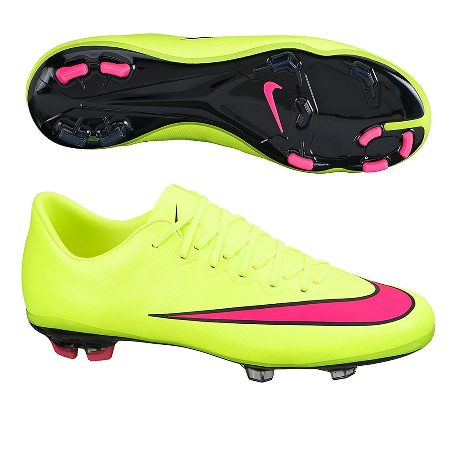 Amazon.com | Nike Youth Mercurial Vapor X Firm Ground (VOLT/BLACK) | Shoes