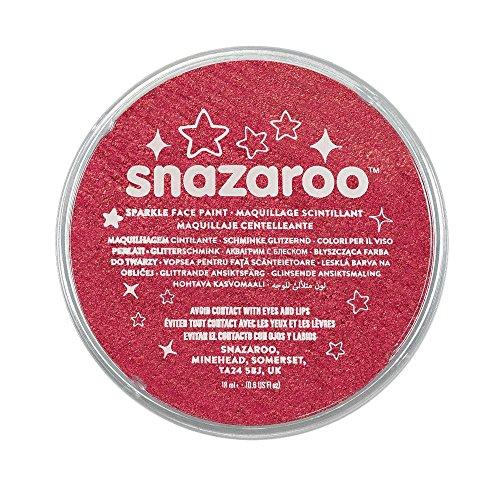 Snazaroo Sparkle Face Paint, 18ml, Sparkle Red