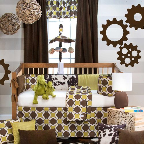 Urban Cowboy 4 Piece Baby Crib Bedding Set With Bumper By Sweet Potato