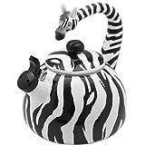 Supreme Housewares Whistling Tea Kettle, Zebra