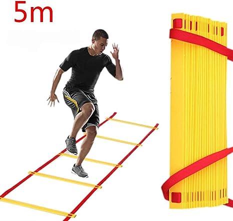uzinb Velocidades de Agilidad Entrenamiento de Salto Herramientas Pace Escalera de Formación de Fútbol Deportes: Amazon.es: Deportes y aire libre