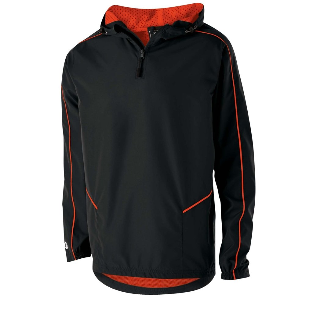 Holloway Wizard Adult Pullover (Small, Black/Orage)