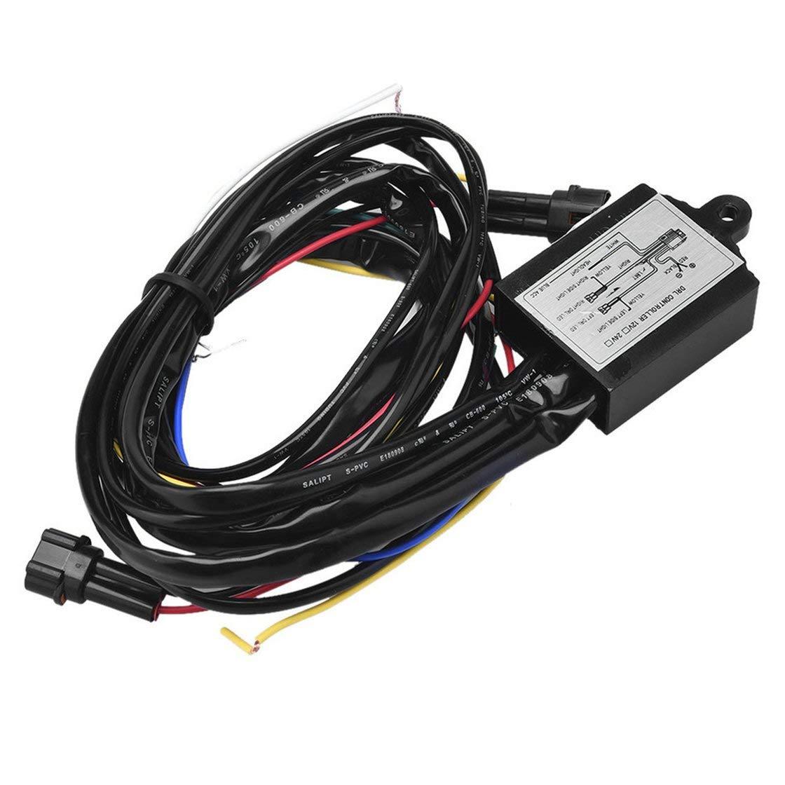 BlackPJenny Controller luci di Marcia diurne a LED Multifunzione con Controllo di Marcia diurno