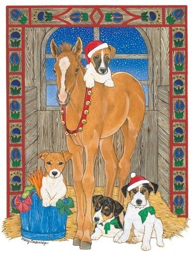 Jack Russell Pups and Colt Christmas Cards