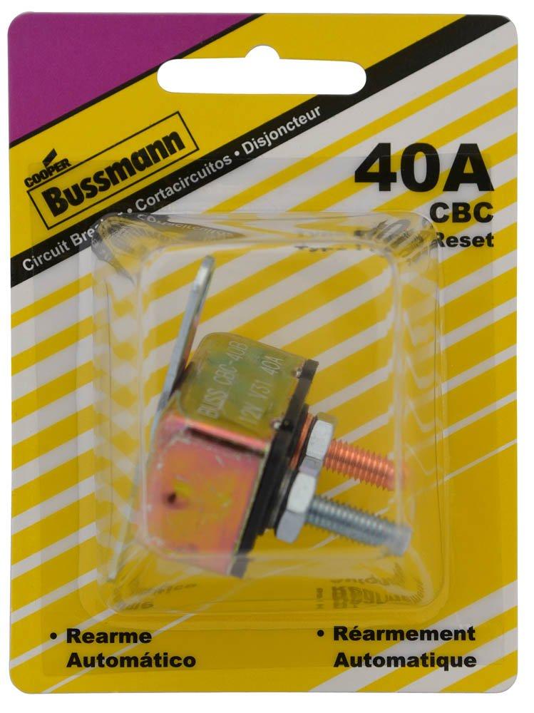 Bussmann (BP/CBC-40B-RP) 40 Amp Type-I Stud Mount Circuit Breaker with Crosswise Bracket