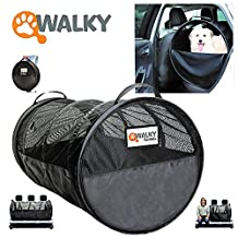 """Walky Pet Tube, Car Kennel Crate, Automotive Pet Containment Barrier Kennel, Soft Pet Crate, Large, 47"""" L x 24' Round"""