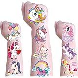 Unicorn Temporary Tattoos for Kids - Cute Unicorn Tattoos Body Art Waterproof Temporary Tattoos for Girls Birthday Party Favo