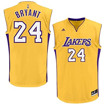 adidas Kobe Bryant Los Angeles Lakers  24 Replica NBA Jersey Yellow ... b4db22cefc5f