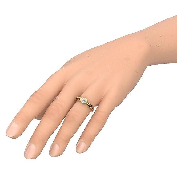 Propuesta Anillo Oro 333 + caja. Diamantes de Zirconia como por Amoonic hecho con SWAROVSKI ZIRCONIA Present Idea para mejor para anillos compromiso novedad ...