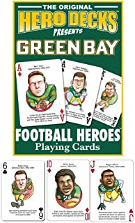 product image for Channel Craft Green Bay Packers Football Heroes Playing Cards
