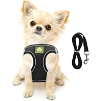 FEimaX Dog Harness and Leash Set, No-Pull Breathable Soft Mesh Puppy Vest Harness Reflective Adjustable Pet Harnesses…