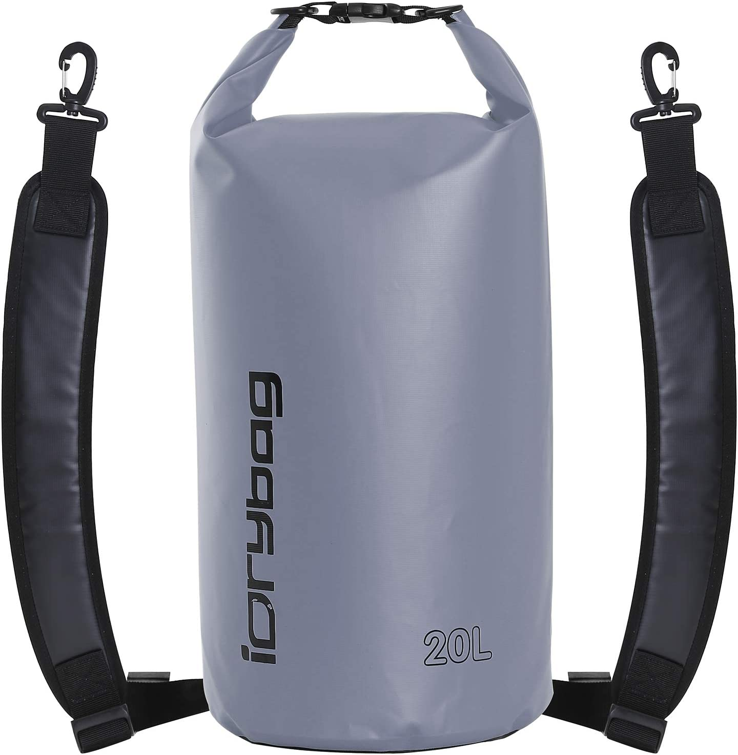 IDRYBAG Dry Bag Waterproof Floating, PVC Waterproof Bag Roll Top, 2L/5L/10L/15L/20L Dry Bag Kayak Storage for Kayaking, Boating, Rafting, Swimming, Hiking, Camping, Travel, Beach
