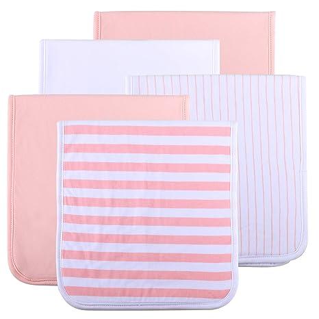 Paños de algodón para hacer eructar al bebé, de tres capas, absorbentes, suaves