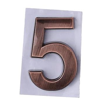 Numeri Civici In Plastica.Manyo 1 Pezzo Numero Civico Adesivo In Plastica Abs Autoadesivo 50