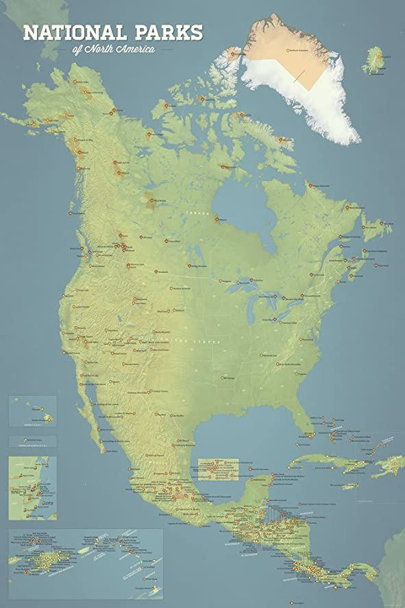 Amazon Map Of All Us National Parks And Monuments Us National - Map of all the us national parks