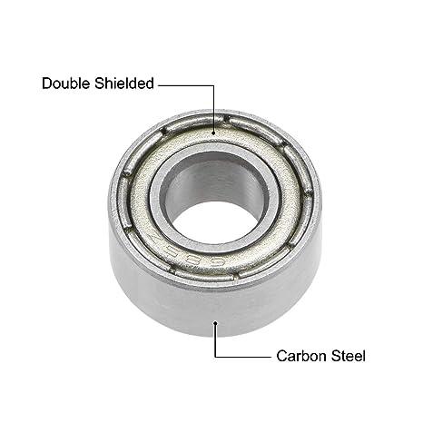 uxcell 683ZZ Deep Groove Ball Bearings Z2 3mm X 7mm X 3mm Double Shielded Carbon Steel 5pcs