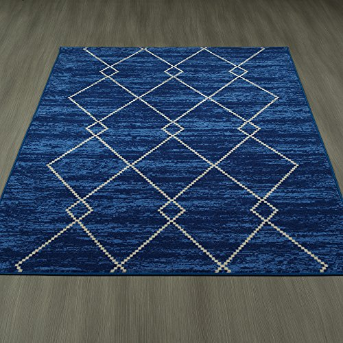 Ottomanson Studio Collection Diamond Trellis Design Area Rug, 5'0