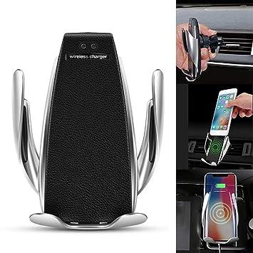 Soporte para cargador de coche inalámbrico, soporte de coche para cargador de batería de 10 W rápido para iPhone XR XS Max X 8 8 Plus, Samsung, all. ...
