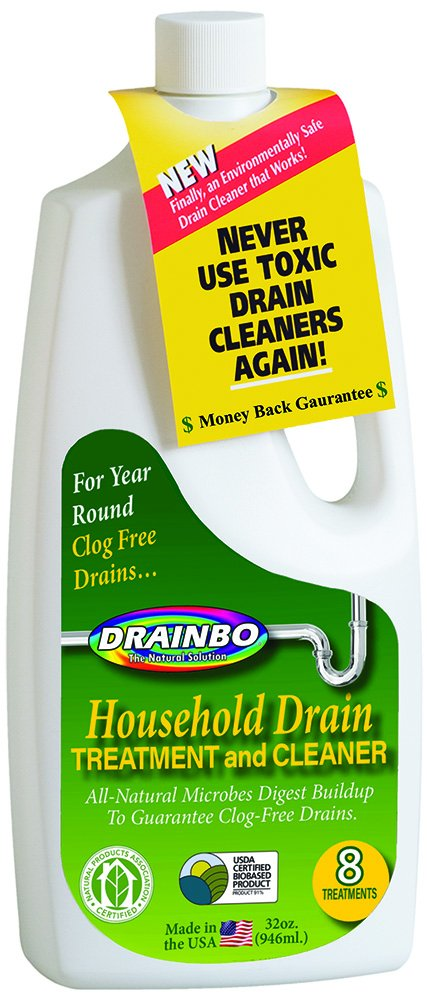 Drainbo Household Drain Treatment and Cleaner, 32-Ounce