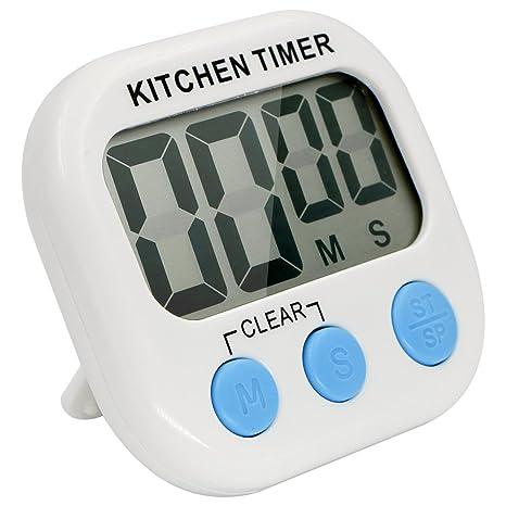 Timer da Cucina, Bukm Magnetico Digitale Timer con Ampio Display LCD ...