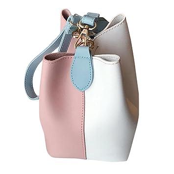 bolsos de mujer baratos Sannysis bolsos de mano bolsos de mujer verano bolsillo ancho del cuero de la PU Color mezclado (Rosa): Amazon.es: Deportes y aire ...