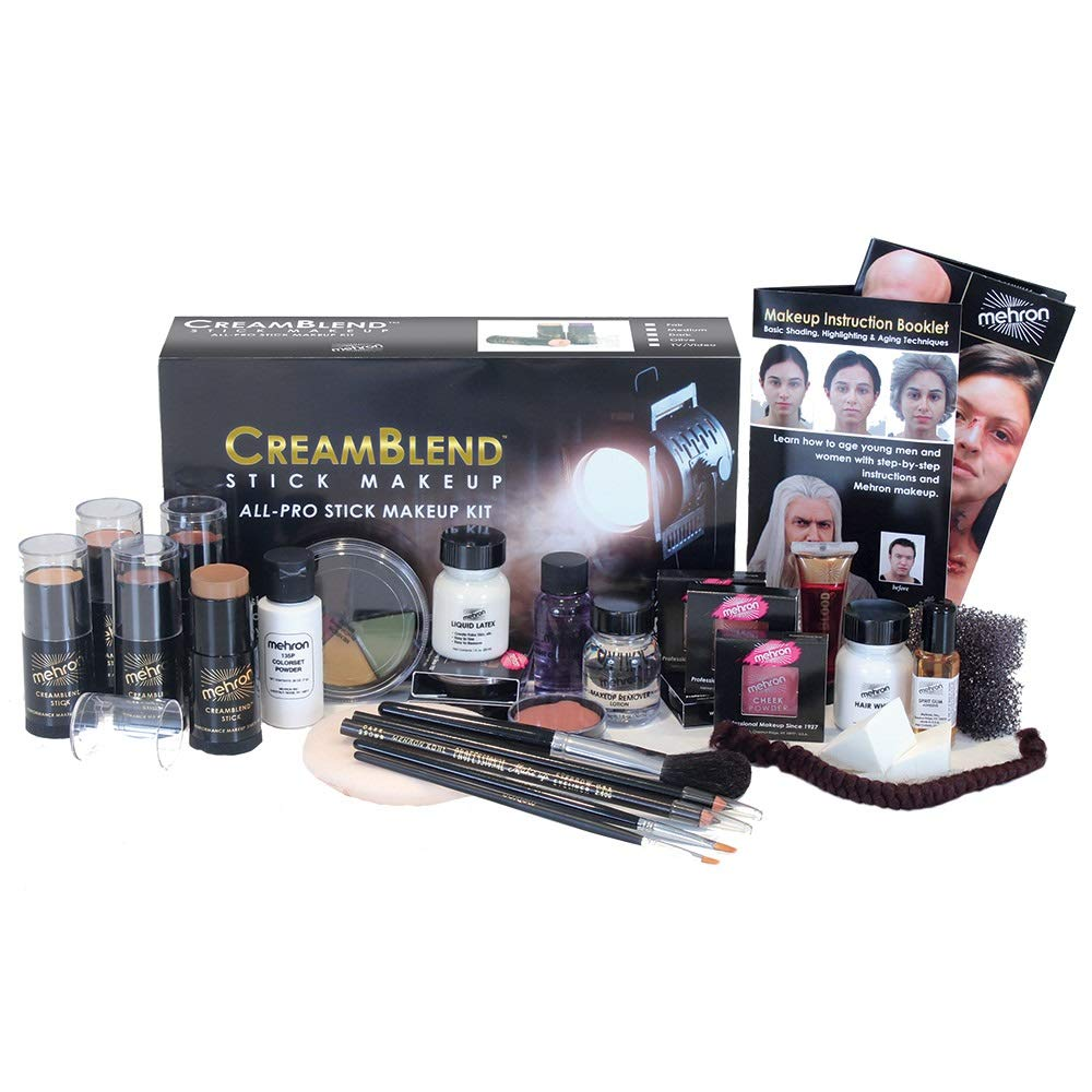 Mehron Makeup Creamblend All-Pro Student Makeup Kit (Dark)