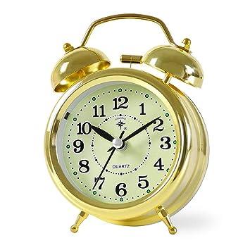 TYNZ Reloj Despertador sin Marca de Metal, con Alarma ...