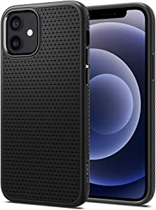 Spigen Liquid Air Armor Designed for Apple iPhone 12 Case (2020) / Designed for iPhone 12 Pro Case (2020) - Matte Black