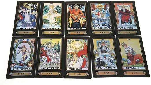 Tarot Cards for Beginner Deck Vintage 78 Tarjetas Rider Waite Future Telling Game en Colorful Box Juego de Mesa (Black): Amazon.es: Juguetes y juegos