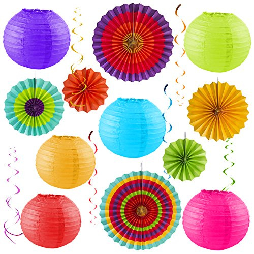 Colorful Party Pack – Birthday Decorations - Outdoor Fiesta – Cinco De Mayo – Baby Shower – Wedding – Bachelorette - Photo Props (Cinco De Mayo Birthday)