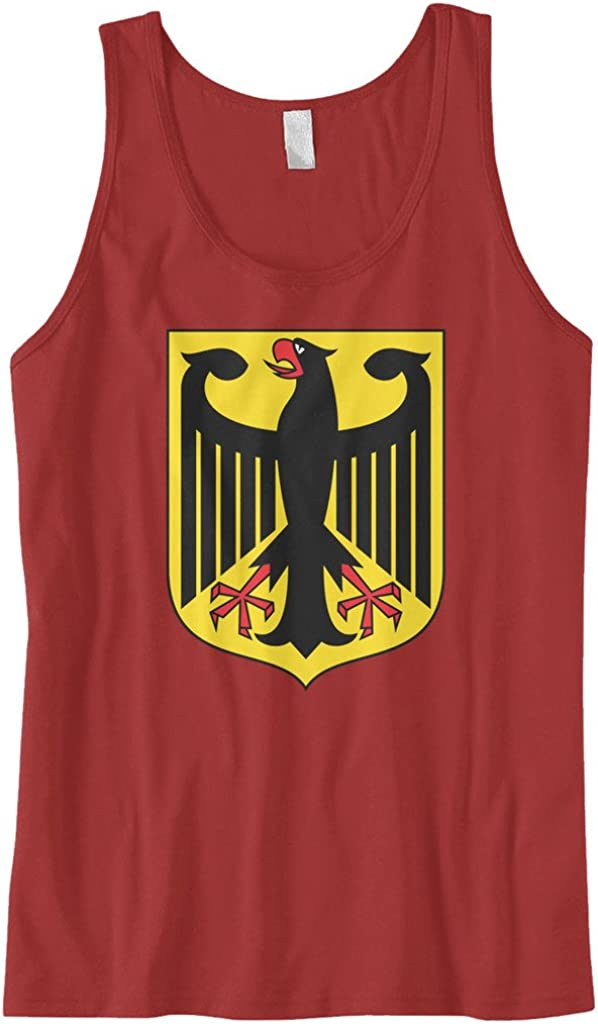 Cybertela Mens German Coat of Arms Eagle Shield Tank Top