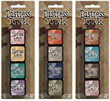 Ranger Tim Holtz Distress Mini Ink Pad Kits #4, #5 and #6 Bundle