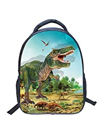 MINGPINHUIUS Niños Mochila, 3D Animales Sello de Dinosaurios Mochilas Escolares al Hombro Para Kindergarten Primaria 3-6 años (Dinosaurio 5)