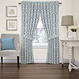 Waverly 15421052063CRF Donnington 52-Inch by 63-Inch Damask Single Window Curtain Panel, Cornflower Review