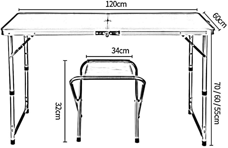 Bärbar utomhus hopfällbar stol pall set liten enkel grill matsal gatupall bord säng datorskrivbord (färg: B-trä) A-maroon