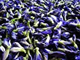 Mea Yai Haerb 100% Organic Dried Butterfly Pea Flowers for Healthy From Thailand Net Weight 100 G X 3 Packs