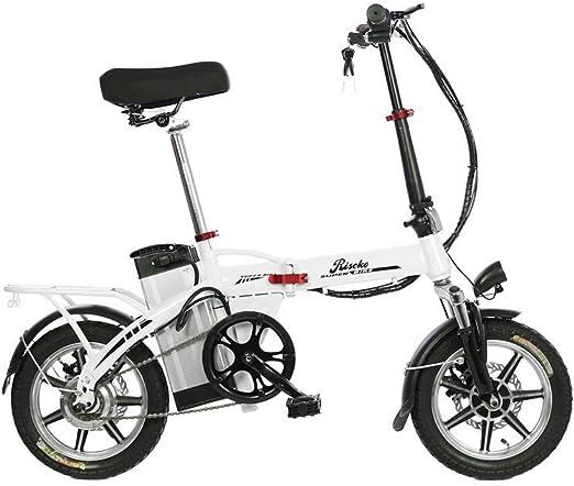 Riscko Bicicleta Eléctrica Plegable Volt Batería 10,4 Bep-48 Blanco: Amazon.es: Deportes y aire libre