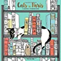 Cats in Paris: A Magical Coloring Book