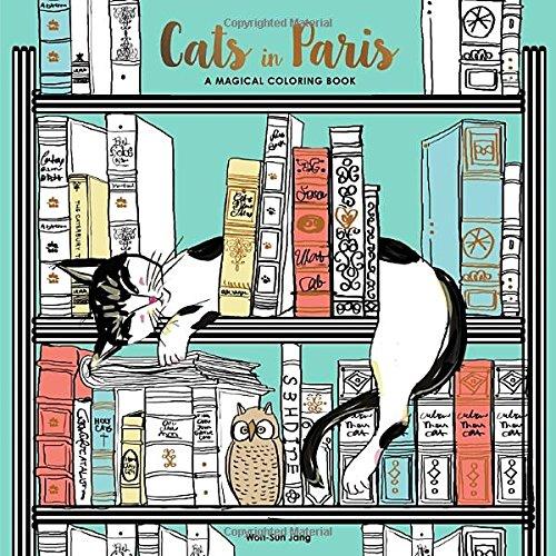 Cats in Paris: A Magical Coloring Book