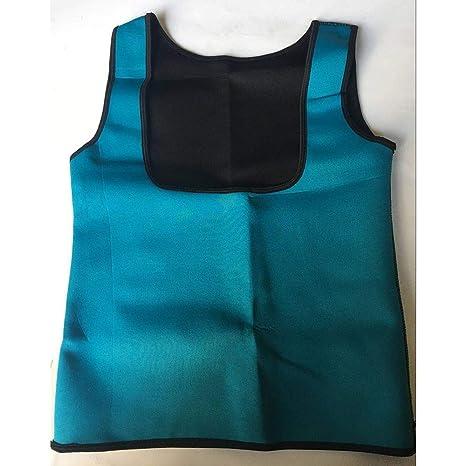 2ada007bba Women Sweat Sauna Body Shaper Slimming Vest Thermo Neoprene Waist Trainer  Color Blue Size L  Amazon.in  Beauty