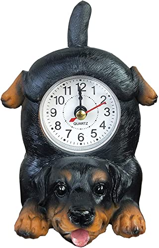 Puppy Dog Desk Clock Table Clock with Wagging Tail Rottweiler
