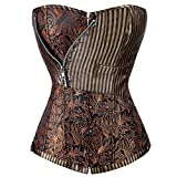 Search : KIWI RATA Womens Sexy Steampunk Dress Boned Corset For Waist Training Bustier Lace Up Plus Size Irregular Brown M